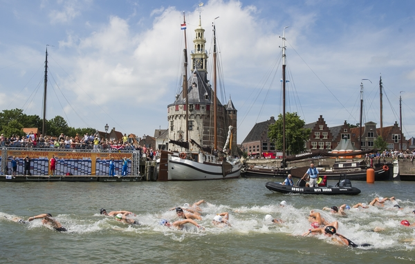 Race Hoorn, Netherlands  LEN 2016 European Open Water Swimming Championships  Open Water Swimming Men's 10km Day 01 10-07-2016 Photo Giorgio Perottino/Deepbluemedia/Insidefoto