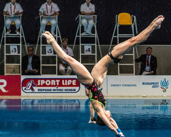 TIMOSHININA Iuliia, MINIBAEV Viktor RUS Synchronised platform Mixed Final LEN European Diving Championships 2017 Sport Center LIKO, Kiev UKR Jun 12 - 18, 2017 Day05 16-06-2017 Photo © Giorgio Scala/Deepbluemedia/Insidefoto